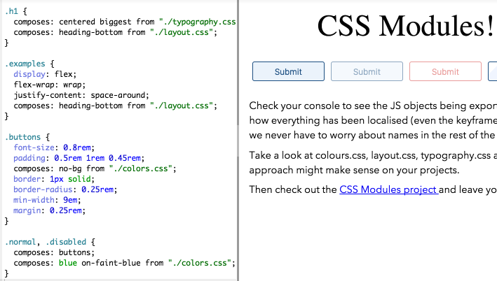 Try CSS Modules live